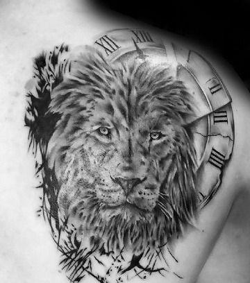 Realistas Y Originales Tatuajes De Leones En El Hombro Tatuaje De Leon En La Espalda Tatuajes Leones Tatuajes De Animales