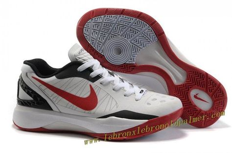 best service 5d7d3 027d2 2011 Nike Zoom Hyperdunk Low Shoes White Red Black