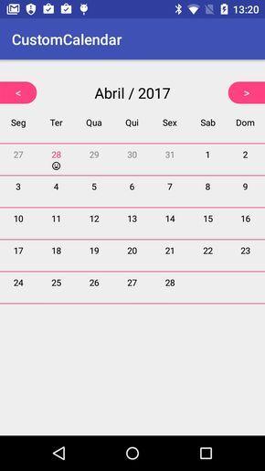 Custom Calendar View Android Design Materialup Custom Calendar