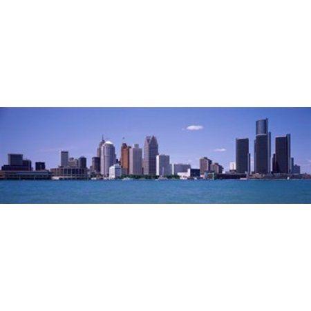 Poster Print Wall Art entitled Detroit Michigan Skyline