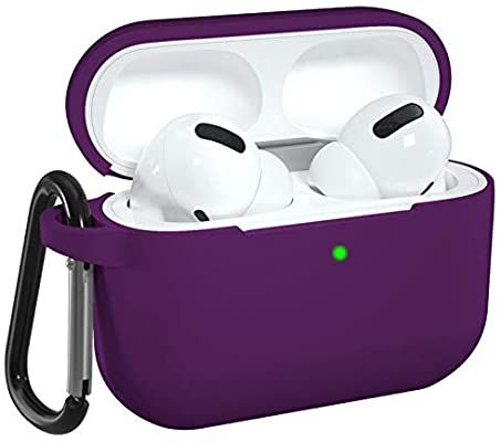 Amazon Com Dgege Silicone Case Cover Compatible With Apple Airpods Pro Protective Case With Carabiner For Airpods 3 Protective Cases Airpods Pro Silicon Case