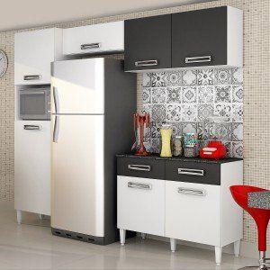 Cozinha Compacta Com Balcao E Tampo 4 Pecas Topazio Chf Branco