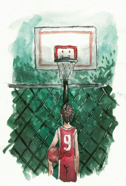 52 Super Ideas For Basket Ball Drawings Artworks Basketball Painting Basketball Drawings Ball Drawing