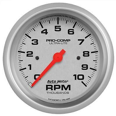 Sponsored Ebay Autometer Ultra Lite Series Tachometer 0 10 000 3 3 8 Dia In Dash Silver Face Tachometer Gauges Electricity