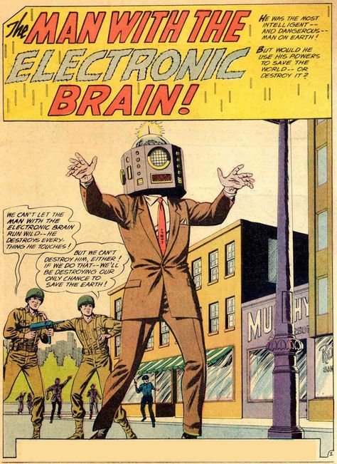 An old comic book science fiction story titled