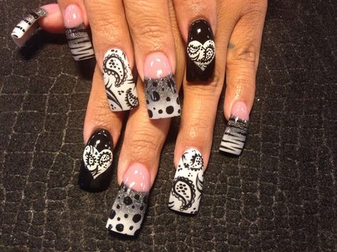 White bandana by Oli123 - Nail Art Gallery nailartgallery.nailsmag.com by Nails Magazine www.nailsmag.com #nailart