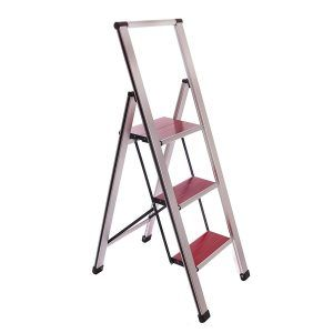Sorfey Aluminum Folding Anti Slip 3 Step Ladder Folding Step Stool Step Stool Ladder