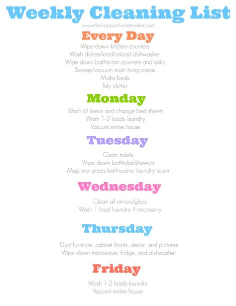 graphic about Flylady Printable titled Record of Pinterest flylady printable free of charge cleansing schedules
