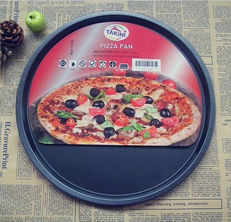 13 Inch Pizza Shallow Pan Non Stick Carbon Steel Pizza Plate