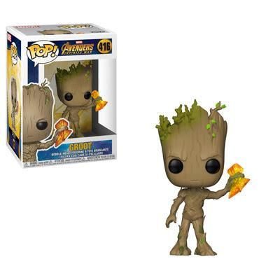 Avengers Infinity War Funko Pop Groot With Stormbreaker 416 Funko Pop Avengers Marvel Infinity War Pop Marvel