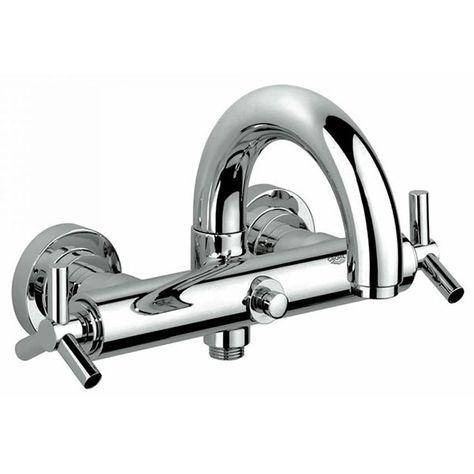 Grohe Spa Atrio Ypsilon Wall Mounted Bath Shower Mixer Tap 25010000 Bath Shower Mixer Taps Bath Shower Mixer Shower Taps
