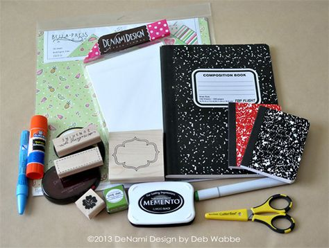 Altered Composition Book Tutorial - bjl