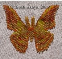 Moth Antheraea Pernyi Bead Pattern at Sova-Enterprises.com