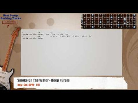 Smoke On The Water - Deep Purple Guitar Backing Track with chords ...