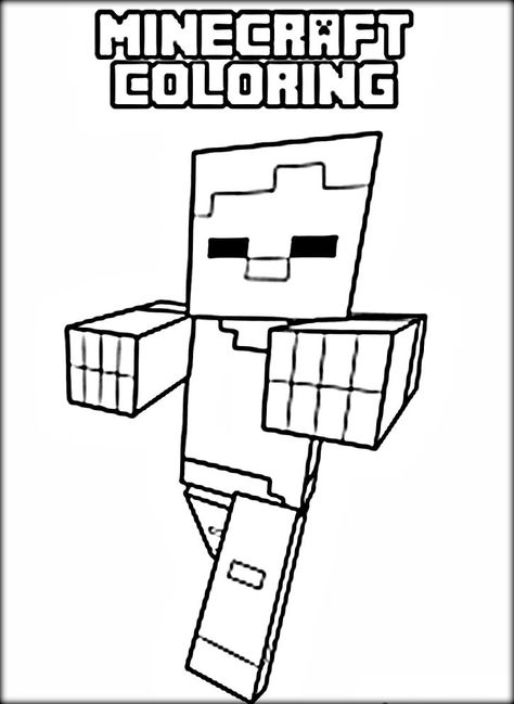 Minecraft Color Page Az Coloring Pages Malen Minecraft