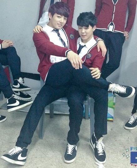 JiKook sitting on lap    Jiman and Jungkook BTS   Bangtan