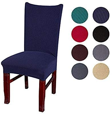 Amazon Com Velvet Spandex Stretch Dining Room Chair Cover Removable Chair Slipcovers Set Of 4 Dark Slipcovers For Chairs Dining Room Chair Covers Hotel Decor