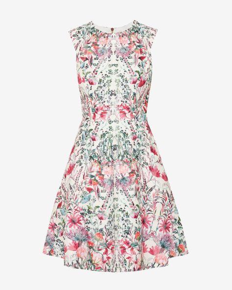 90507afcbb13 Layered Bouquet skater dress - Cream | Dresses | Ted Baker