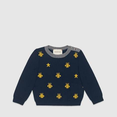 146e6db972 Baby wool bees and stars sweater | קייץ | Gucci baby, Kids boys, Baby