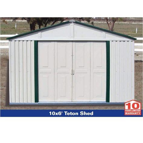 Duramax Storage Sheds 10x6 20221 Teton Budget Series Vinyl Shed Duramax Sheds Vinyl Sheds Shed Storage