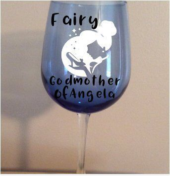 Blue Wine Glass Godmother Request Every Prince Or Princess Needs