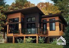 Resultado De Imagen Para Modele Chalet Contemporain Casas Modulares Casas Prefabricadas Casas