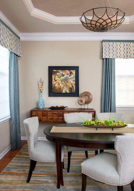 Window Treatments Dining Room Elegant Small Modern Dining Room With Custom Windo In 2020 Dining Room Window Treatments Elegant Dining Room Dining Room Windows