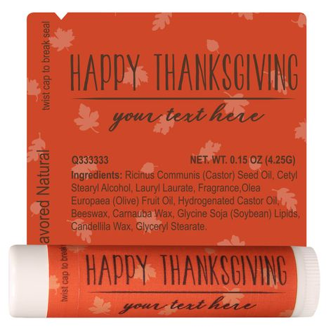 TLB2229 - Thanksgiving Lip Balm Template 2229 #thanksgiving #promoitem