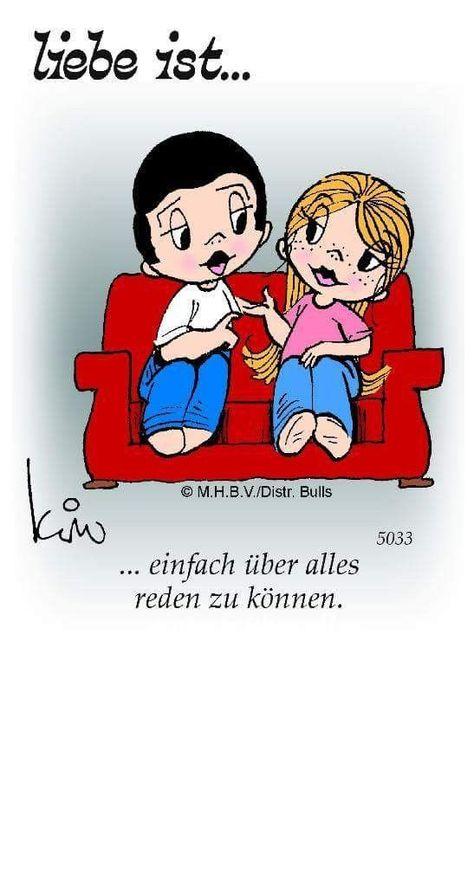 Liebe ist...auch noch so bekloppte Gedanken zu teilen - Karin Bensch