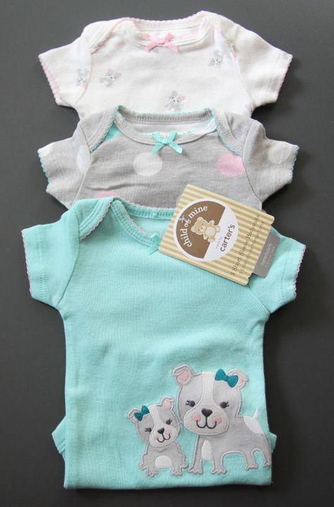 c95eaf88f Carter s Child of Mine 3 pack Bodysuits ~Pink