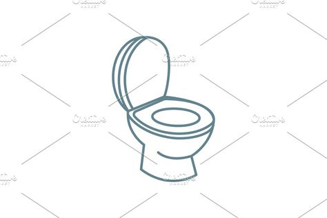 Toilet Paper Vector Line Icon Sign Illustration On Background Editable Strokes Line Icon Urban Icon Illustration