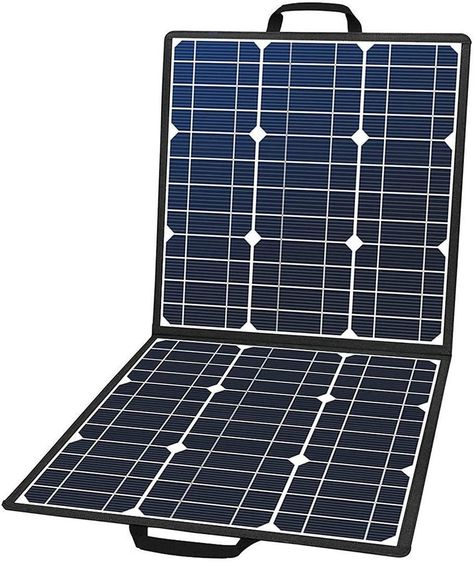 Flashfish Foldable 100W 18V Portable Solar Panel Charger with 5V USB 18V DC Output - 100W
