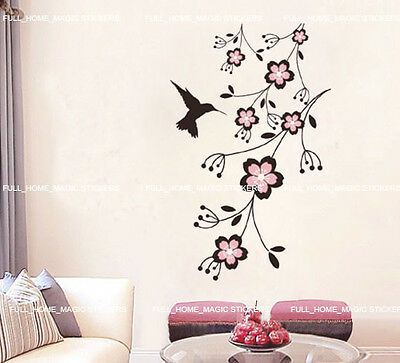 Large Flower Roses Wall Stickers Wall Decals Wall Graphics Vines