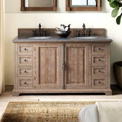 Darby Home Co Bedrock 60 Double Bathroom Vanity Base Only Reviews Wayfair Double Vanity Bathroom Bathroom Vanities Without Tops Bathroom Vanity Base