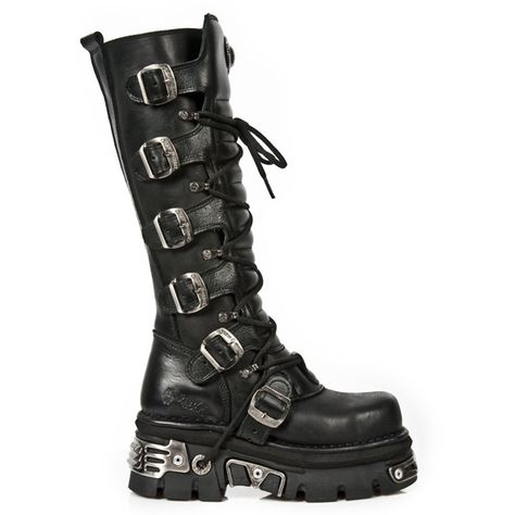 NEW ROCK 272MT S1 Metal Toe Boots ❤ liked on Polyvore