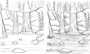 Resultat De Recherche D Images Pour Cascade D Eau En Dessin