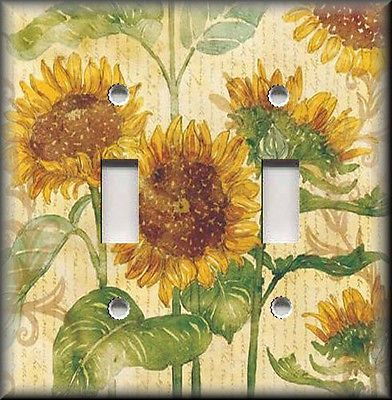 Switch-Plates-And-Outlets-Beautiful-Sunflowers-Floral-Sunflower-Home ...
