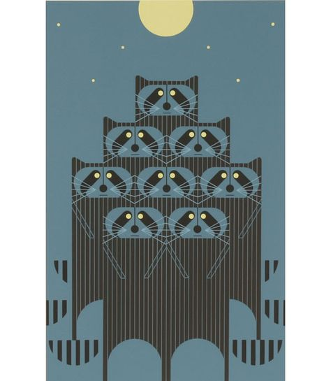 Charles Harper Rac Pac Ltd Ed Print Raccoon  antiquehelper.com