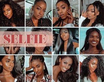 6 Dark Skin Lightroom Mobile Preset White Bright Airy Etsy Black Girl Magic Tanned Skin Color Lightroom