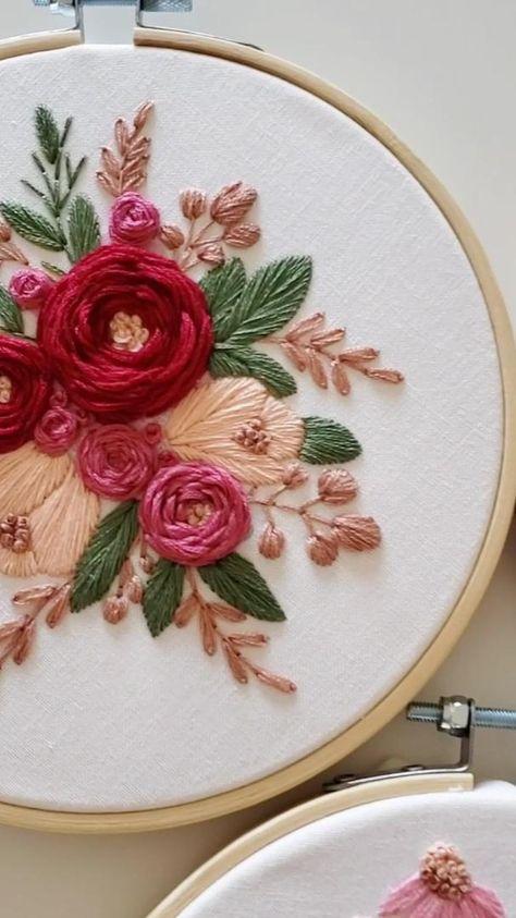Rose embroidery DIY kit