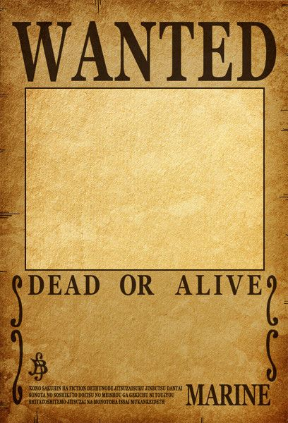 One Piece Wanted Poster Template Lovely Aashe E Stop For Printable