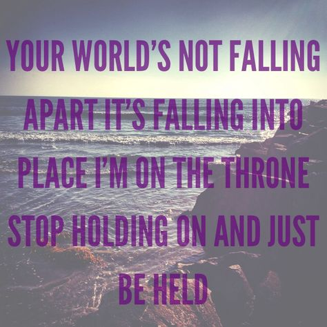 Just Be Held by Casting Crowns from their new Thrive album picture made by Faith Pyzer