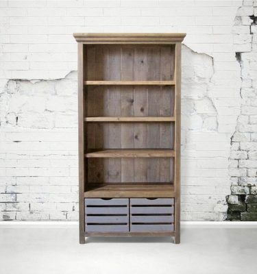 Cardiff Bookcase With Crates Wood Furniture Plans Woodworking Furniture Plans Wood Furniture