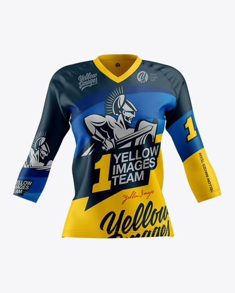Download Women S Trail Jersey 3 4 Sleeve In Apparel Mockups On Yellow Images Object Mockups Clothing Mockup Design Mockup Free Shirt Mockup