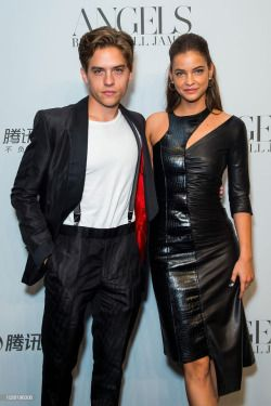 Dylan sprouse barbara palvin harpers bazaar party