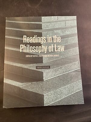 Readings In The Philosophy Of Law Third Edition In 2021 Philosophy Reading Book Cover