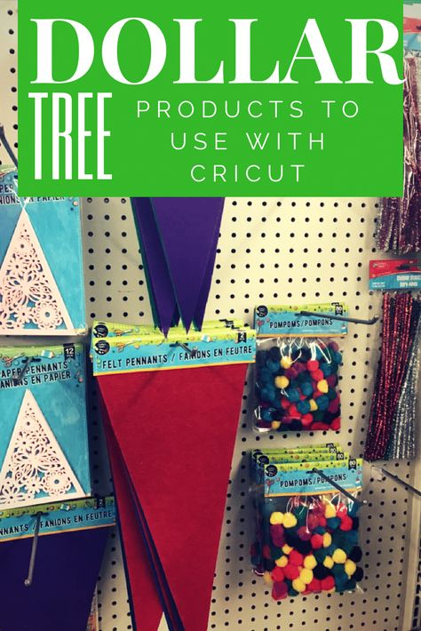 The Dollar Tree is a great resource for your Cricut and Silhouette projects! Cricut Project Ideas / Cricut home Decor / Cricut Designs / Dollar Tree Decorations / Dollar Tree Products / Dollar Tree Crafts /
