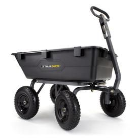 Gorilla Carts 6 Cu Ft Poly Yard Cart Gor6ps Wheelbarrow