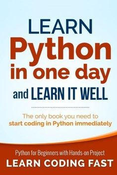 Learn Python In One Day And Learn It Well Pdf With Images