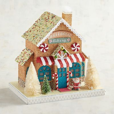 Led Light Up Paper Gingerbread House Christmas Village Pier 1 Imports Gingerbread House Gingerbread Diy Ginger Bread House Diy